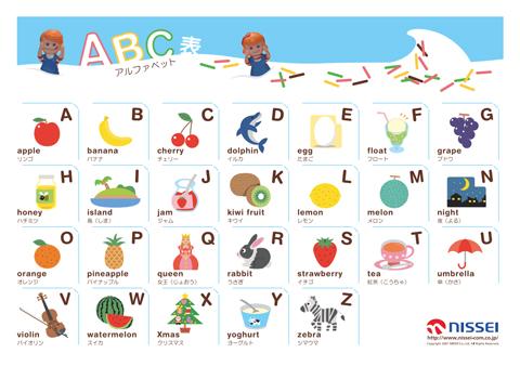 アルファベット 表